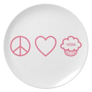 Peace, Love and Vegan Cupcakes Plate