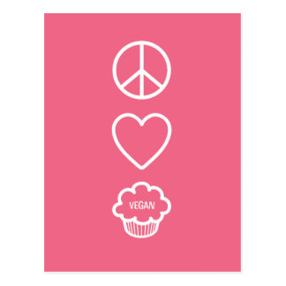 Peace Love and Vegan Cupcakes Post Cards