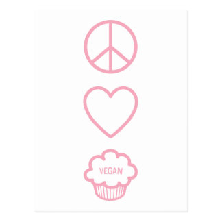 Peace Love and Vegan Cupcakes Postcards
