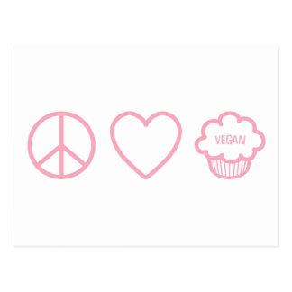 Peace, Love and Vegan Cupcakes Postcards