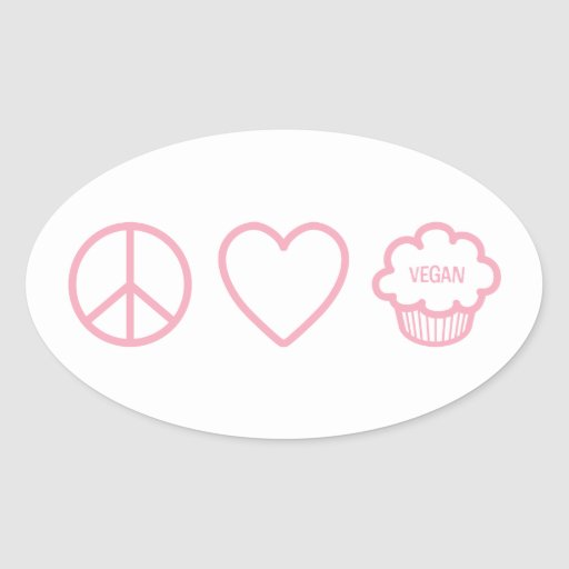 Peace, Love and Vegan Cupcakes Stickers