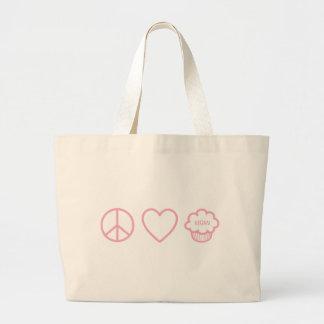Peace, Love and Vegan Cupcakes Bag