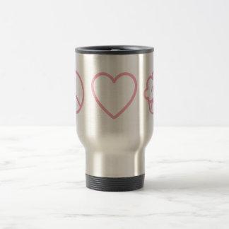 Peace, Love and Vegan Cupcakes Travel Mug