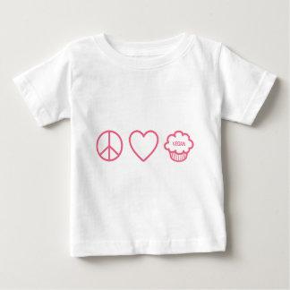 Peace, Love and Vegan Cupcakes T Shirt