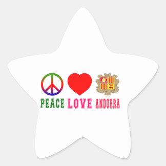 Peace Love Andorra Sticker