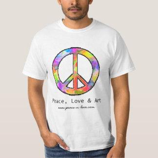 Peace, Love & Art Peace Sign T-Shirt