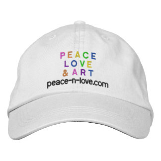 Peace, Love & Art Promotional Embroidered Cap