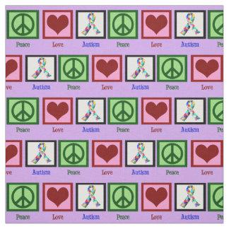 Peace Love Autism Fabric