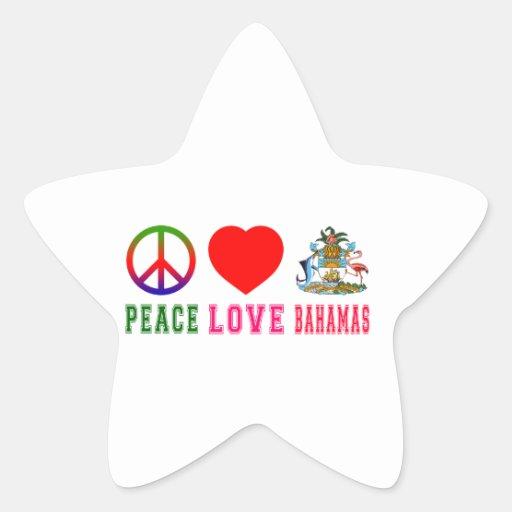 Peace Love Bahamas Star Stickers
