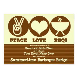 Peace Love Barbeque Invitation