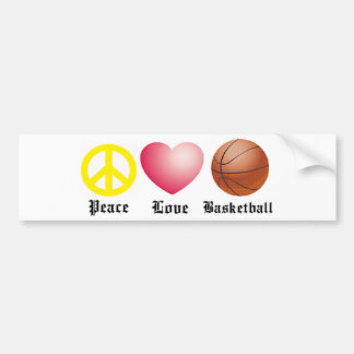 Peace, Love, Basketball Bumper Sticker