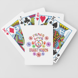 Peace Love Basset Hounds Bicycle Playing Cards
