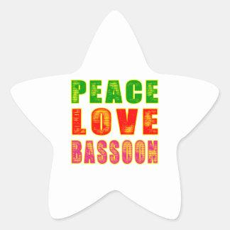 Peace Love Bassoon Sticker