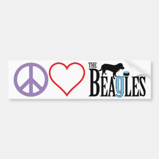 Peace, Love, Beagles Bumper Sticker