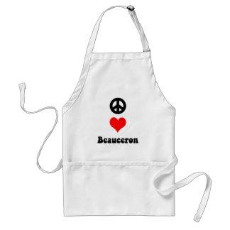 Peace love Beauceron Standard Apron