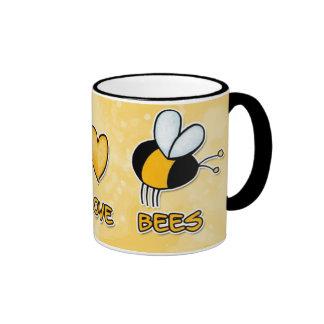 peace love bees mug