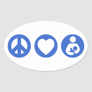 Peace Love Breastfeeding Stickers