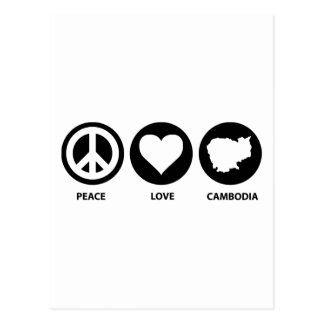 Peace Love Cambodia Postcard
