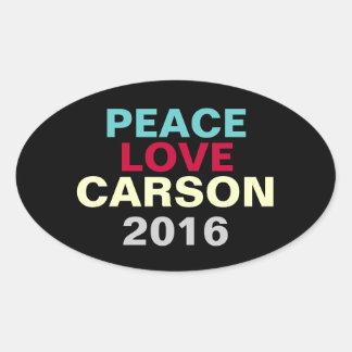 Peace Love Carson 2016 Oval Campaign Sticker