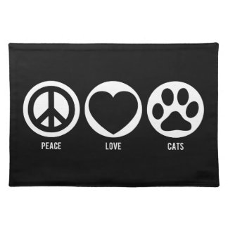 Peace Love Cats Placemat