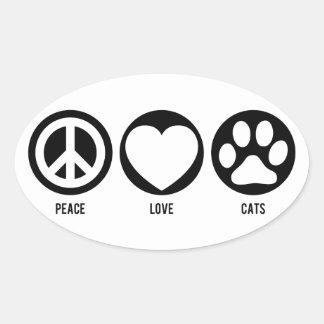 Peace Love Cats Sticker
