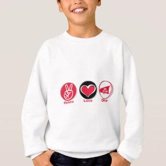 Peace Love Cheer Red Sweatshirt