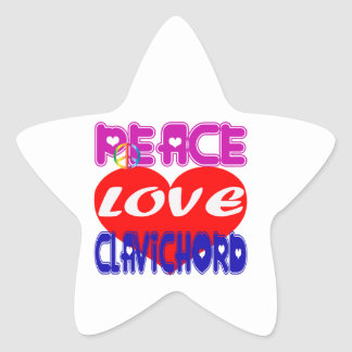 Peace Love Clavichord Stickers
