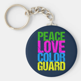 Peace Love Color Guard Key Ring