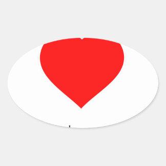 Peace Love Community Oval Sticker
