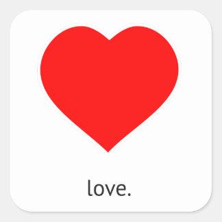 Peace Love Community Square Sticker