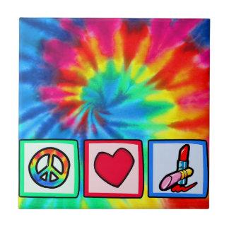Peace, Love, Cosmetics Tiles