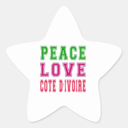 Peace Love Cote d'Ivoire Sticker