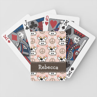 Peace Love Cow Bicycle Playing Cards