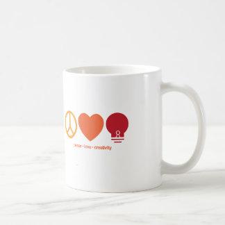 Peace, Love, Creativity Mug