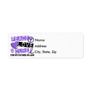 Peace Love Cure H Lymphoma Father-In-Law Return Address Label