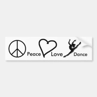 Peace, Love & Dance Bumper Sticker