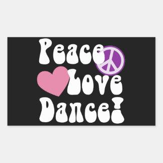 Peace, Love, Dance Stickers