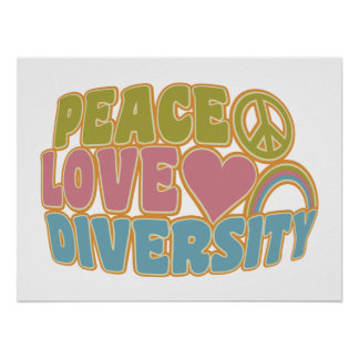 PEACE LOVE DIVERSITY poster