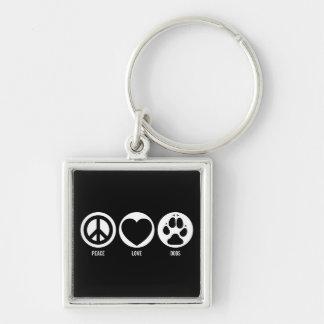 Peace Love Dogs Keychain