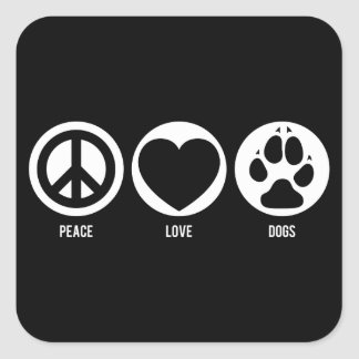 Peace Love Dogs Sticker