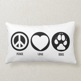 Peace Love Dogs Throw Cushions