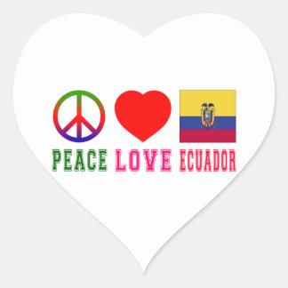 Peace Love Ecuador Stickers