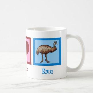 Peace Love Emu Coffee Mug