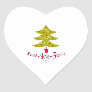 PEACE LOVE FAMILY HEART STICKERS