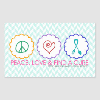 Peace, Love & Find a Cure Stickers