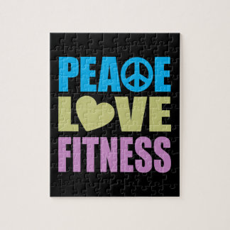 Peace Love Fitness Jigsaw Puzzle