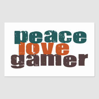 Peace Love Gamer Stickers