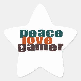 Peace Love Gamer Sticker