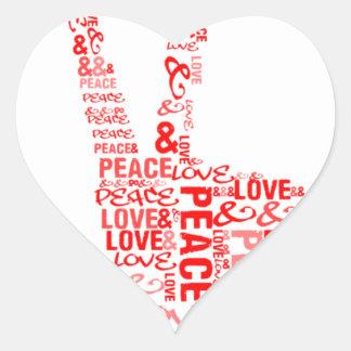 Peace & Love - Give peace a chance Heart Sticker