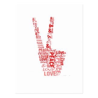 Peace & Love - Give peace a chance Postcard